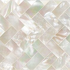 "Daltile Ocean Jewels 2"" x 2"" Herringbone Accent Tile in Mother of Pearl"