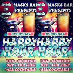Happy hour at MASKS