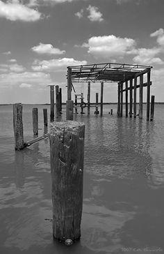 old pier in baytown , tx