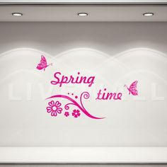 Αυτοκόλλητα βιτρίνας ανοιξιάτικα :: Vi -4 Spring Time, Home Decor, Decoration Home, Room Decor, Interior Decorating