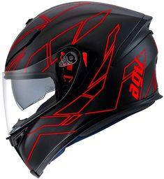 Bottom of helmet inspiration; neck movement is good Red Motorcycle Helmets, Agv Helmets, Racing Helmets, Biker Accessories, Scooters, Helmet Paint, Custom Helmets, Biker Gear, Riding Gear