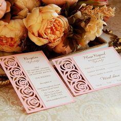 RSVP alojamiento tarjeta 4 x 6 plantilla rosas de