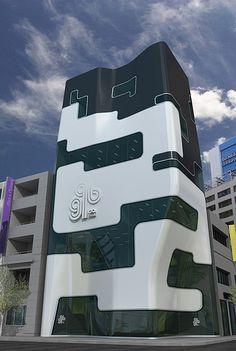 GQ BANK BUILDING CONCEPT - Reminds me of Rihanna's swim suit.