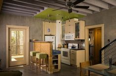 Simple Design Ideas For Small Kitchens | Eliminate the table.