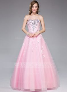 Evening Dresses - $149.99 - Ball-Gown Sweetheart Floor-Length Tulle Evening Dress With Lace Beading (017045178) http://jjshouse.com/Ball-Gown-Sweetheart-Floor-Length-Tulle-Evening-Dress-With-Lace-Beading-017045178-g45178?pos=related_products_3