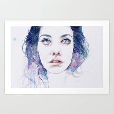 miss Universe Art Print by Agnes-cecile - $20.00 http://society6.com/product/miss-Universe-x5P_Print#1=2