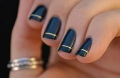 black with a gold stripe!