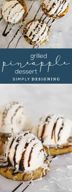 Grilled Pineapple Slices and a Scrumptious Grilled Pineapple Dessert - Dessert Recipes Grilled Pineapple Desserts, Cooked Pineapple, Pineapple Dessert Recipes, Pineapple Slices, Healthy Dessert Recipes, Delicious Desserts, Trifle Pudding, Homemade Snickers, Easy No Bake Desserts