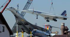Tupolev tu-144 and Concorde being displayed