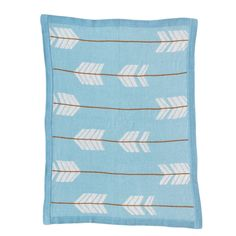 Knitted Cotton Blanket - Arrows