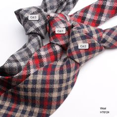 red paid wool ties mensHT6124 Wool Tie, Neckties, Men Casual, Red, Fashion, Moda, Fashion Styles, Fashion Illustrations