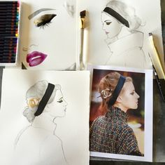 On the cusp of Fashion Month, these are the fashion illustrators to follow for their stylish sketches —which are sure to be in full force for the month of shows ahead.