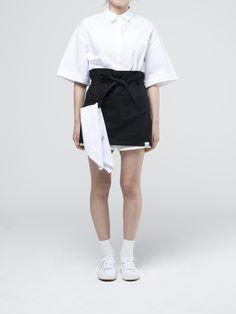 Black Short Apron American Uniform, Waiter Uniform, Black Shorts, Rooftop, Apron, Skirts, Anime, Shopping, Fashion