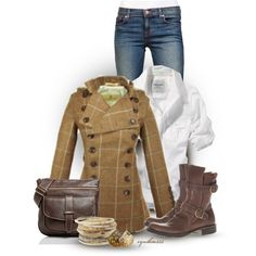 Plaid Tweed by cynthia335 on Polyvore featuring мода, Libertine, J Brand, Fiorentini + Baker and Roots