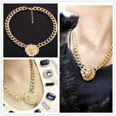 Lionhead aleación de alto grado de joyería personalizada collar europeo y americano de corto collar de la exageración de regalos envío gratis
