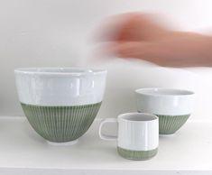 New ceramic collection hand crafted by Derek Wilson - #derekwilson #craftmanship #porcelain #londongallery #style #beautiful #maudandmabel
