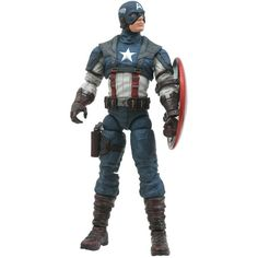 Diamond Select Toys Marvel Select Captain America The First Avenger... (105 SGD) ❤ liked on Polyvore featuring toys