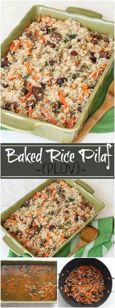 Baked Rice Pilaf (PLOV). ValentinasCorner.com