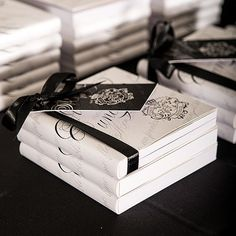 Memorialize your wedding with help from this notepad favor with personalized cover.