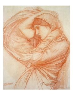 Study for 'Boreas' (Red Chalk on Tinted Paper) Gicléedruk