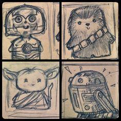 More Star Wars Kewties! Chibi - Kawaii style! by Kamenliter.deviantart.com on @deviantART