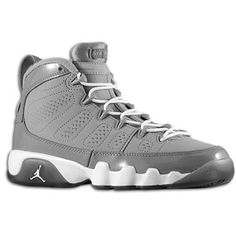 Air Jordan Retro 9 White Imperial Purple Cool Grey Hair