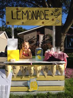 Lemonade stand. Easy to make DYI