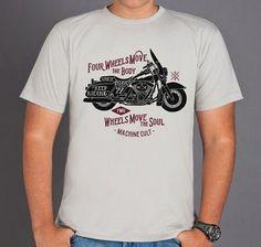 Camiseta Moto Custom - Machine Cult | Roupas e acessórios de carro e moto