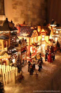 Christmas Village 203 Landscaping Luville holszstoß model making
