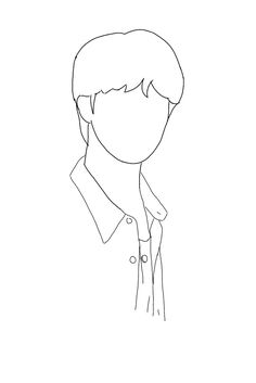 Kpop Drawings, Art Drawings Sketches Simple, Really Cool Drawings, Outline Art, Outline Drawings, Diy Embroidery Patterns, Hand Embroidery Art, Minimalist Drawing, 3d Quilling