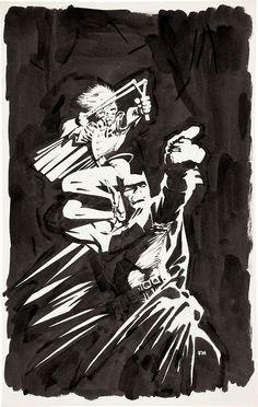 The Dark Knight Returns Original art by Frank Miller