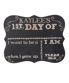 1st Day of School Personalized Chalkboard Sign #zulily *so cute