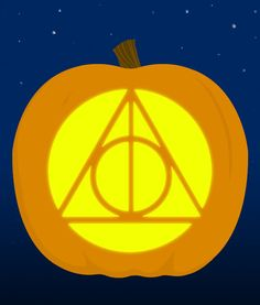 10. The symbol of The Deathly Hallows - submitted by frankj447250733 | 18 Insanely Clever Pop Culture Stencils To Up Your Pumpkin Carving Game