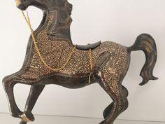 Original Golden Handmade (Brass) Decoration With Black Polish.  Oorspronkelijke Gouden Handgemaakt (Brass, Messing, Geelkoper) Decoratie Met Zwart Polish.