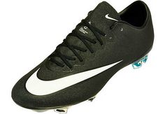 Nike Mercurial CR7 Vapor X FG Soccer Cleats - Black and Turquoise