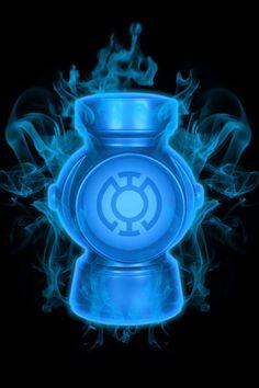 Firey Blue Lantern Battery by Blue Lantern Ring, Blue Lantern Corps, Lantern Rings, Dc Comics Characters, Dc Comics Art, Jessica Cruz Green Lantern, Green Lantern Wallpaper, God Of Lightning, Green Lantern Comics