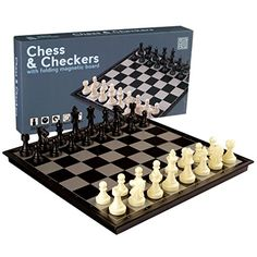 2 in 1 Travel Magnetic Chess and Checkers Set - 12.5'' *** Click on the image for additional details.