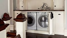 neat way to hide tools in house   Clever and Creative Ideas To Hide A Laundry Room - YouTube