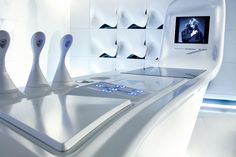 a great design featuring DuPont™ Corian® by Zaha Hadid Zaha Hadid Design, Zaha Hadid Architects, Architectes Zaha Hadid, Landscape Architecture Drawing, Architecture Old, Contemporary Architecture, Amazing Architecture, Futuristic Interior, Futuristic Design
