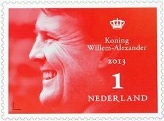 postzegel kroning Koning Willem Alexander