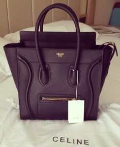 Celine Luggage Handbag 30CM in Black