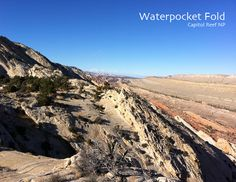 The Waterpocket Fold stretches for 100 miles through central Utah. See it on the Upper Muley Twist Trail.