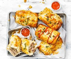 With a touch of sweetness from grated apple, you'll love these pork and apple sausage rolls. They're perfect as a party food and freezer friendly too! Pork Recipes, Weekly Recipes, Baked Rolls, Apple Sausage, Large Oven, Apple Bread, Savoury Baking, Sausage Rolls, Meals For The Week