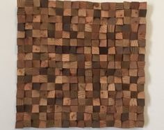 Rustic Reclaimed Pallet Wood Wall Art by BlueFlameWoodworks