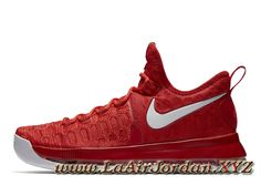 33a8001b81fa Nike Zoom KD 9 Varsity Red 843392 611 Homme Officiel Pas cher Rouge  université Blanc-