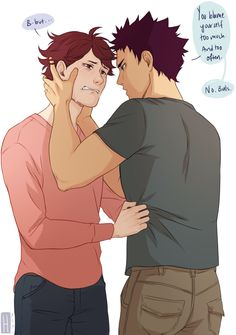 Haikyuu!!, Oikawa, Iwaizumi just kill me now :^) iwaoi
