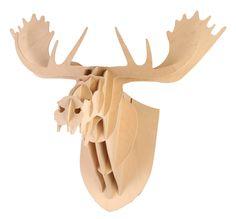 Michelle the Moose Plywood Head Wall Hanging Large - Matt Blatt Moose Head, Painting Frames, Photo Wall Art, Bar Stools, Plywood, Nursery, Interiors, Heart, Box