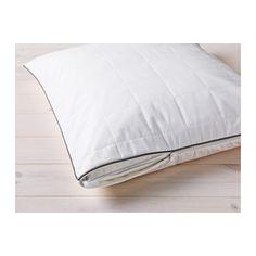 IKEA - ROSENDUN, Pudebeskytter, , Du kan forlænge pudens holdbarhed med en pudebeskytter, der beskytter mod pletter og snavs.Et varmeregulerende for reagerer på din kropstemperatur og holder dig behagelig varm, mens du sover.Du får et tørt og behageligt soveklima, da yderstoffet af lyocell/bomuld er åndbart, gi'r god luftcirkulation og leder fugt bort.Et godt valg, hvis du er allergisk over for støvmider, fordi rullemadrassen kan maskinvaskes ved 60°, som er den temperatur, støvmider bliver…