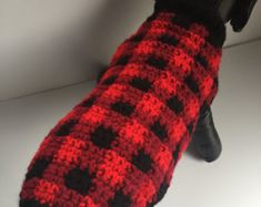 Holiday Crochet Dog Sweater Crochet Dog Clothes by KadieCrochets