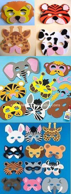 Pin by Anita Janzen on Kinderstunde Felt Crafts, Diy And Crafts, Crafts For Kids, Paper Crafts, Safari Party, Carnival Crafts, Felt Mask, Alphabet Crafts, Animal Masks